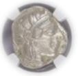 ATTICA, ATHENS c.440-404 BC AR Tetradrachm(17.18g) obv Athena rv owl, olive spray, moon【ChAU5/5】