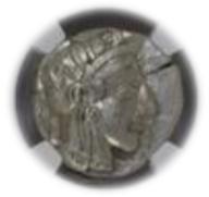 ATTICA, ATHENS c.440-404 BC AR Tetradrachm(17.16g) obv Athena rv owl, olive spray, moon【ChAU5/5】
