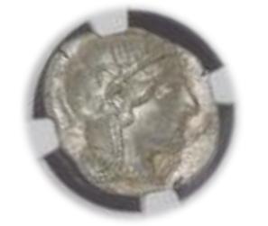 ATTICA, ATHENS c.440-404 BC AR Tetradrachm(17.20g) obv Athena rv owl, olive spray, moon【MS 5/5】