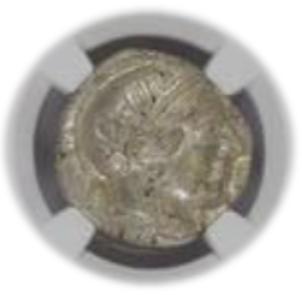 ATTICA, ATHENS c.440-404 BC AR Tetradrachm(17.22g) obv Athena rv owl, olive spray, moon【MS 5/5】