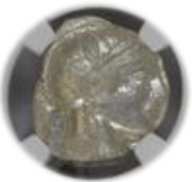 ATTICA, ATHENS c.440-404 BC AR Tetradrachm(17.21g) obv Athena rv owl, olive spray, moon【MS 5/5】