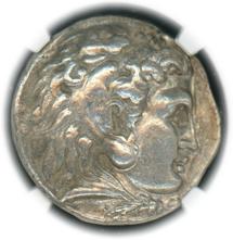 KINGDOM OF MACEDON ALEXANDER III, 336-323 BC AR TERADRACHM  obv Heracles. Rv Zeus.【Ch XF 5/4】