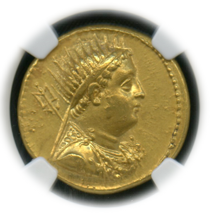 PTOLEMAIC KINGDOM Ptolemy III, 246-222 BC AV Octodrachm posthumous rv diademed cornucopia【Ch AU】