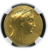 PTOLEMAIC KINGDOM Arsinoe II, d. 270/68 BC AV Octodrachm (27.76g)  rv diademed cornucopias【AU 5/4】