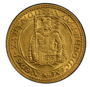 CZECHOSLOVAKIA. Dukat 1924 【MS65】