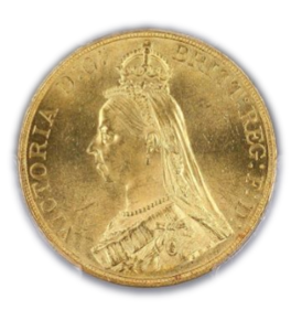 1887 5 pounds Great Britain S-3864 【MS62】