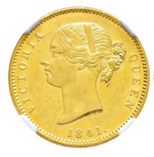 1841.(C) INDIA MOHUR S&W-3.7 TYPE A/1