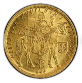 CZECHOSLOVAKIA. 5 Dukaten 1933 【MS64】