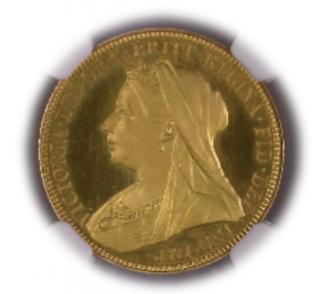 1893 G.BRITAIN 1 Sov【PF66+★Ultra Cameo】
