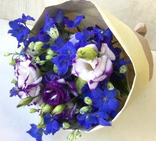 大人ブルーの花束