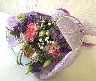 ピンク・パープルの花束
