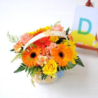 お花フェルトバックのアレンジメント