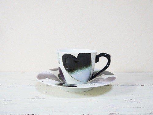ハート コーヒーカップとソーサー