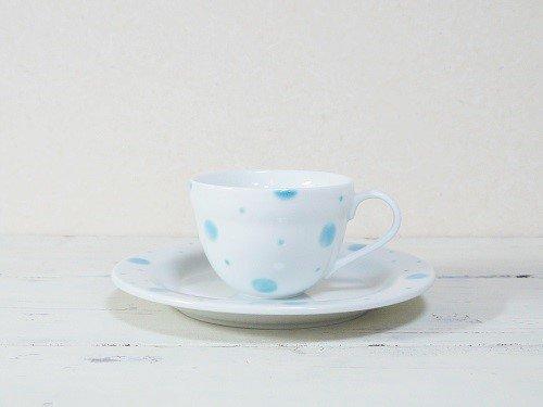 水玉 コーヒーカップとソーサー