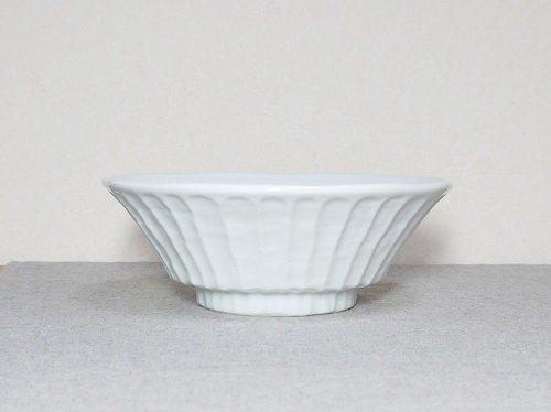 美濃焼 ざっくり麺鉢 白