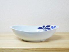 フローラルカレー鉢(ブルー)