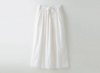 リネンコットンギャザーロングスカート