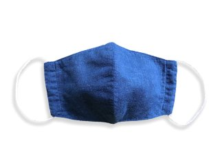 すくも正藍 Silk マスク コットンリネン  S, M, L