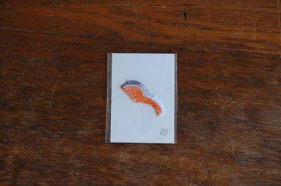 おいしいせかい 刺繍ワッペン 鮭の切り身