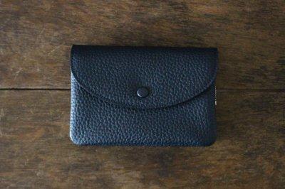 【再入荷】STUDIO LA CAUSE スタジオラコーズ  内縫いフラップ財布M・NAVY