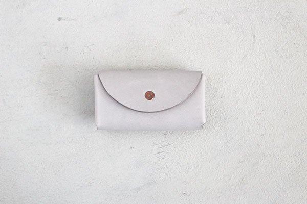 【受注生産商品・1カ月半後の発送】hirari / 平山篤 Coin Purse(LIGHT GRAY)小さなお財布