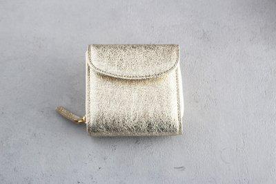 StitchandSew/ステッチアンドソー レザーショートウォレット 箔(ゴールド)CP200