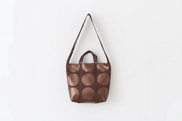 【再入荷】La+h / ラス  8号帆布ラージドットショルダー KOB-1 (brown/ brown)