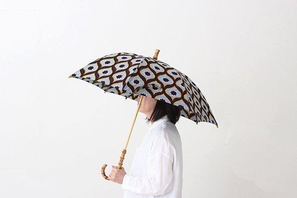 Sun mi サンミ 50cm × 8本骨 アフリカンバティック 晴雨兼用傘【UV&撥水加工】