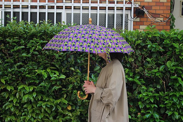 【NEW】Sun mi サンミ 50cm × 8本骨 アフリカンバティック 晴雨兼用傘【UV&撥水加工】