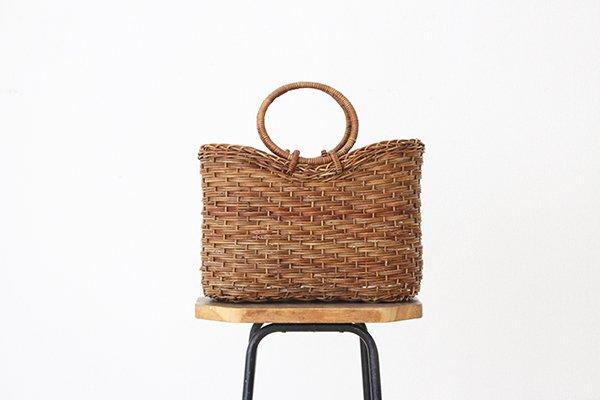 宮本工芸 あけびの籠 バッグ  薄型ホラ型(5)
