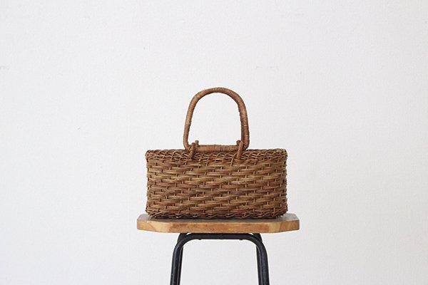宮本工芸 あけびの籠 バッグ  薄型ホラ編弓手(7)