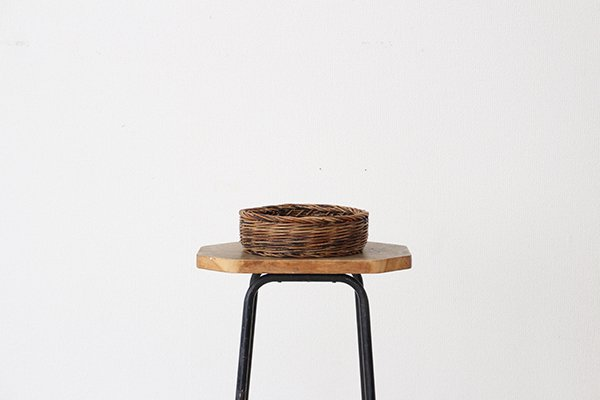 宮本工芸 あけびの籠 丸型トレー 6寸(17)
