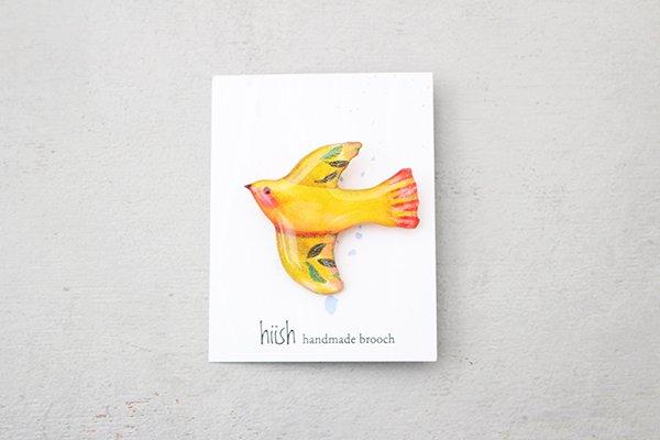 【再入荷】hiish ブローチ 南国の小鳥ブローチ マンゴー (13)