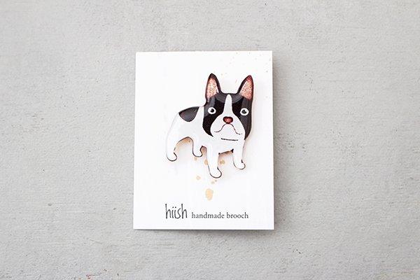 hiish ブローチ 犬くん  フレンチブル  (15)