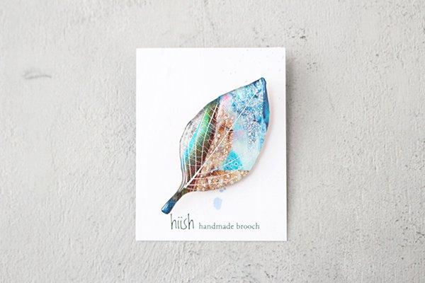 【NEW】hiish ブローチ 木の葉のブローチ (30)