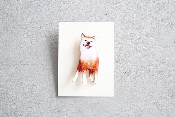 【NEW】hiish ブローチ 柴犬のブローチ (50)