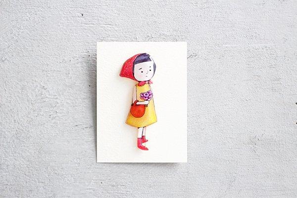 【NEW】hiish ブローチ 女の子のブローチ (57)