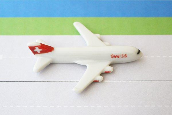 飛行機箸置き  (スイス航空LX A380)