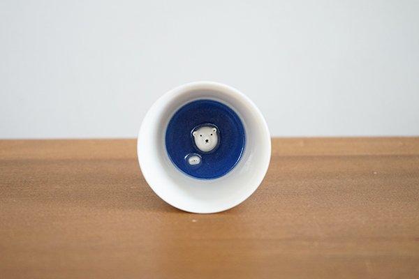 楽土 / 多田せいぞう シロクマの熊五郎 お猪口3号(箱入り)