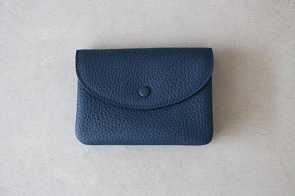 STUDIO LA CAUSE (スタジオラコーズ)  内縫いフラップ財布  M・BLUE 【カタカナ10周年記念 別注カラー】