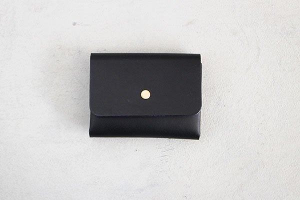 【受注生産商品・1カ月半後の発送】hirari / 平山篤 MINI WALLET( BLACK)