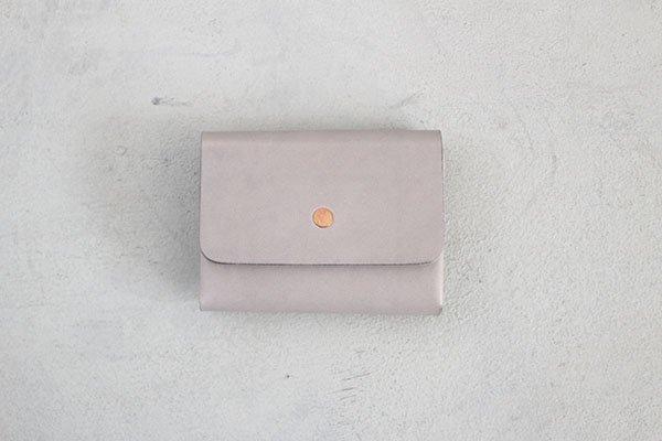 【受注生産商品・1カ月半後の発送】hirari / 平山篤 MINI WALLET(GRAY)