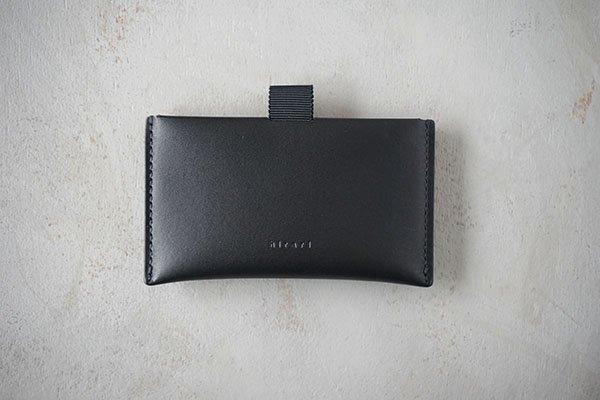 【受注生産商品・1カ月半後の発送】hirari / 平山篤 CARD CASE(BLACK)