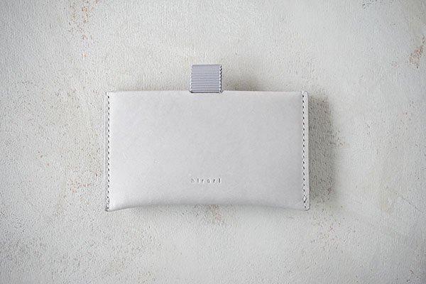 【受注生産商品・1カ月半後の発送】hirari / 平山篤 CARD CASE(GRAY)