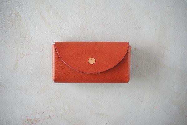 【受注生産商品・1カ月半後の発送】hirari / 平山篤 Coin Purse(BROWN)小さなお財布