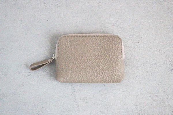 【新作】 STUDIO LA CAUSE  スタジオラコーズ  内縫いラウンドファスナー財布 (M)BEI