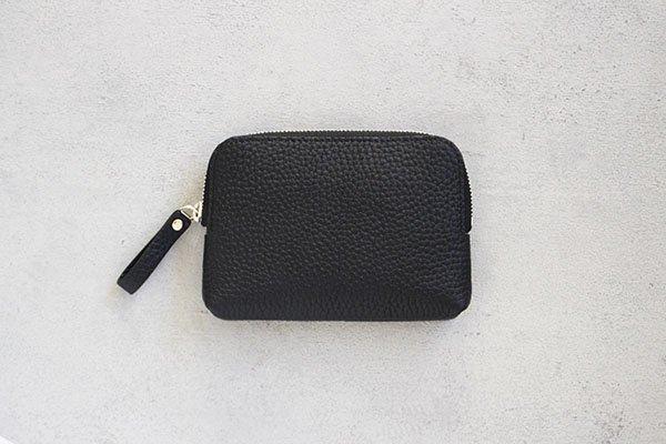 【新作】 STUDIO LA CAUSE  スタジオラコーズ  内縫いラウンドファスナー財布 (M)BLK