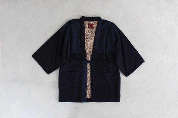 宮田織物 はんてん 半纏  [折鶴袢天・紺] 男女兼用