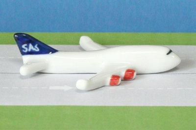 飛行機箸置き (スカンジナビア航空SK B747-400)
