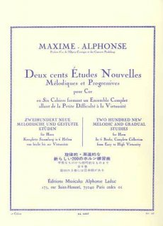 マキシム・アルフォンス 200の新練習曲 第1巻(ネコボス対応)